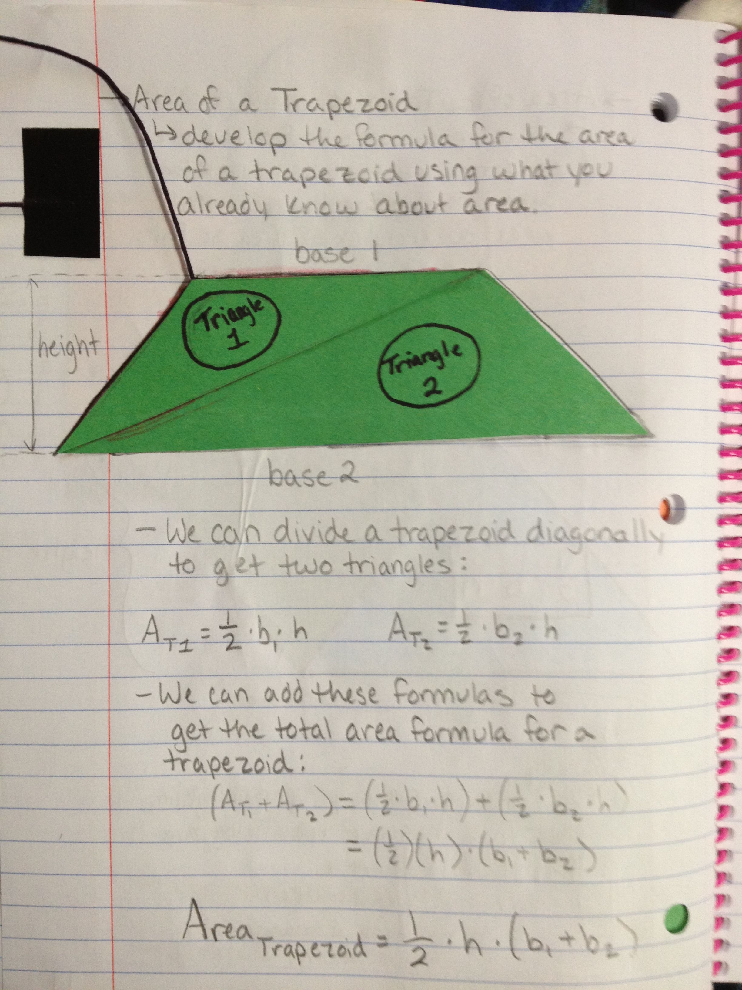 Area Of A T Zoid Notes