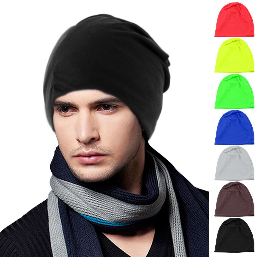 d263fc37653 Women Men Knitted Cap Winter Warm Oversized Ski Slouch Hip-Hop Hat Baggy  Beanies
