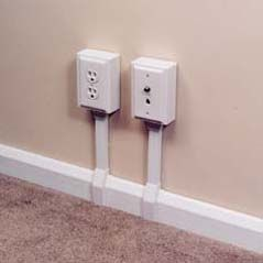 exposed electrical outlets with wire moulding wire channel wire channel renovation. Black Bedroom Furniture Sets. Home Design Ideas