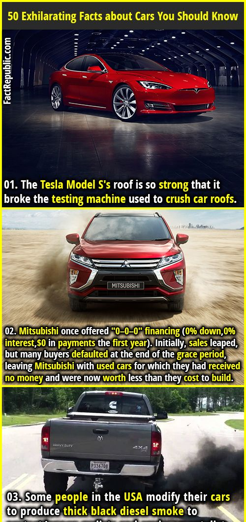50 Exhilarating Facts about Cars You Should Know | Random facts ...