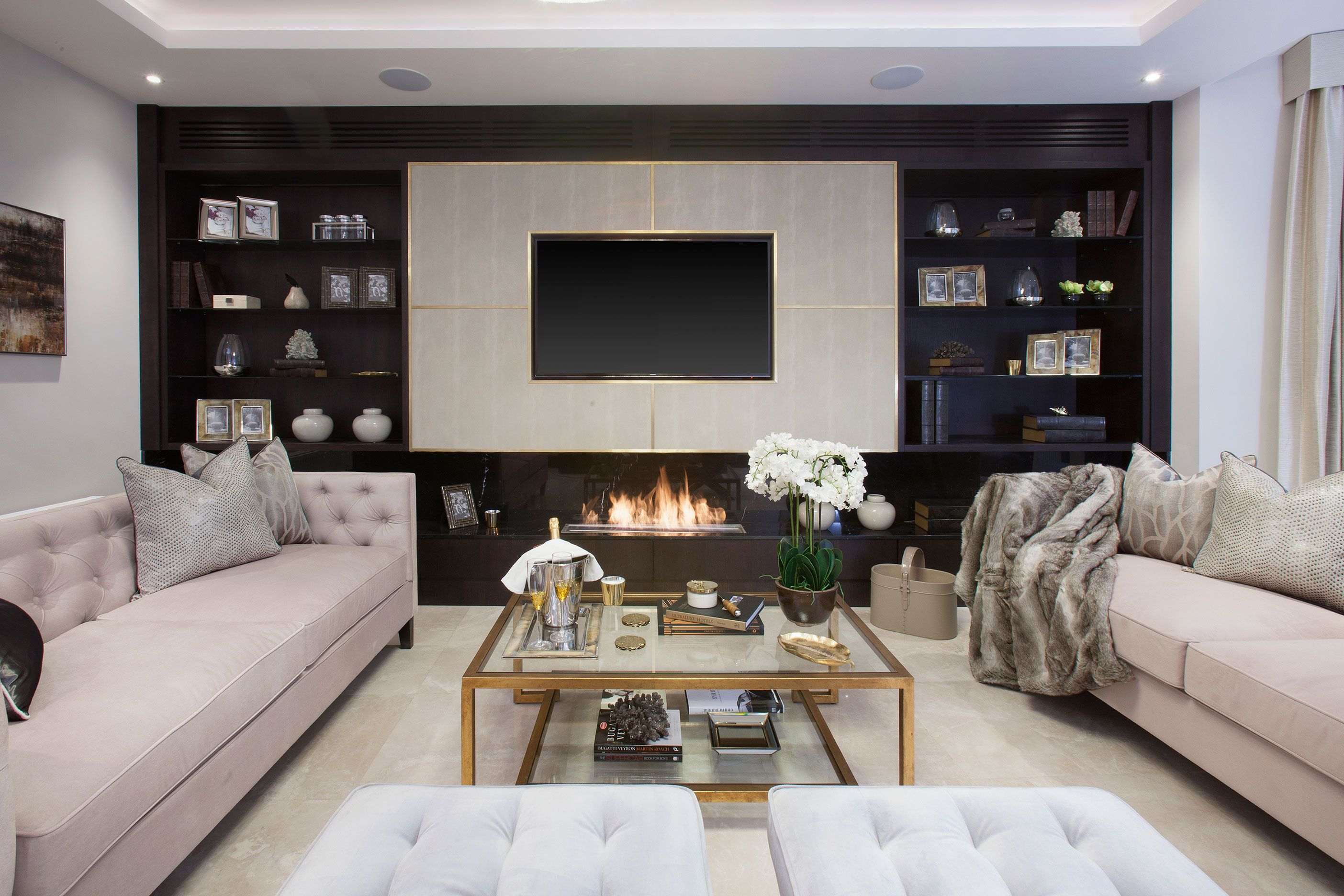 inspiration wall unit luxury deluxe living room   Parkside II   Luxury Living Room   JHR Interiors ...