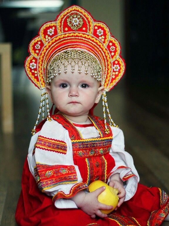 Pin by on pinterest global village russian girl this baby is wearing traditional russian clothing meant for women to emphasize their inner dignity and emotional restraint publicscrutiny Image collections