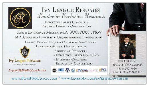 Ivy League Resumes Business Card Career Coaching and Leadership