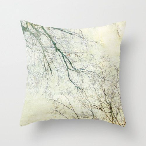 """Pillow cover, """"Branching in the Sky"""" Photograph / Winter Branches Photo Cushion / Winter Home Decor on Etsy, $35.00"""
