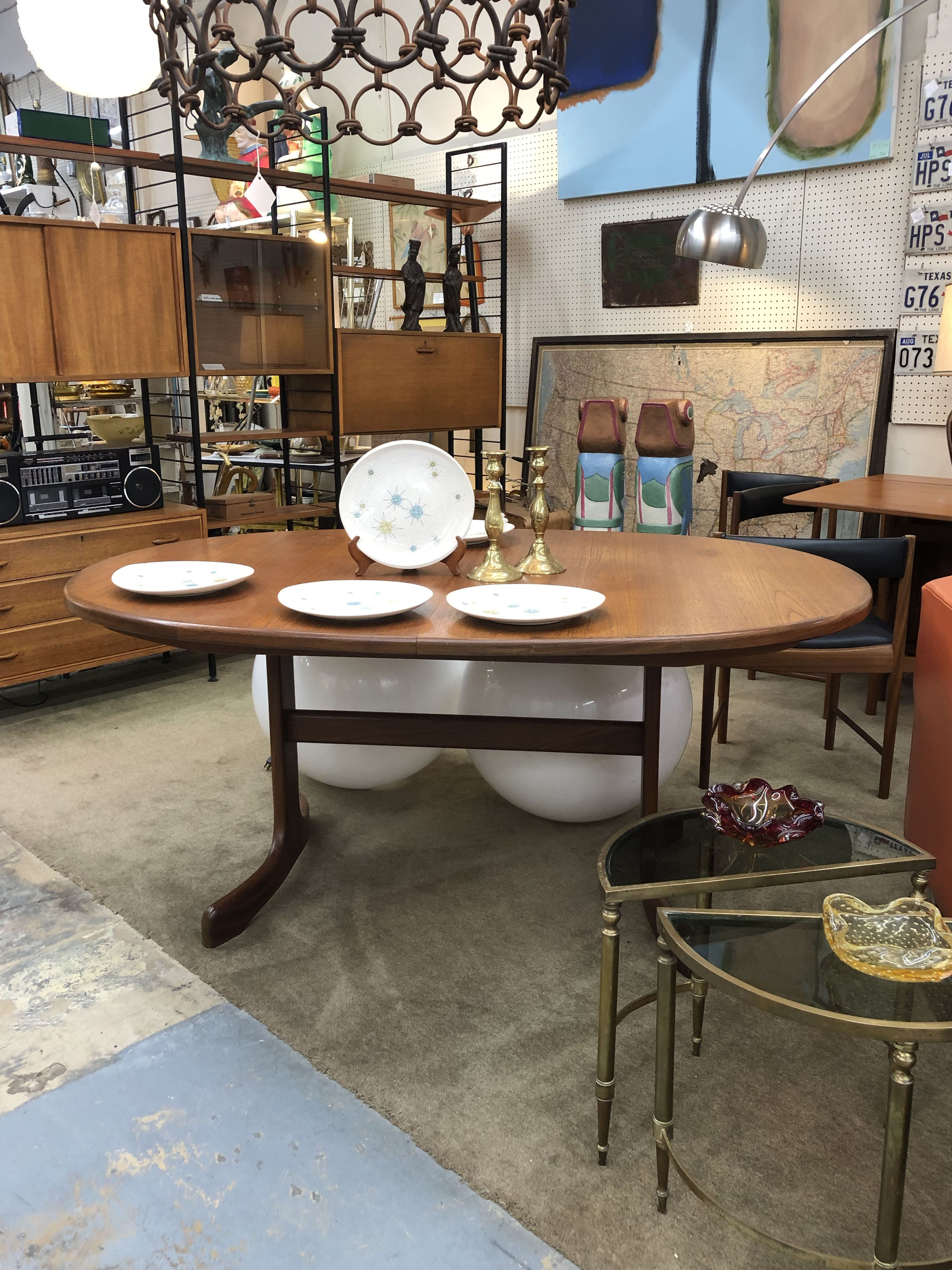 Teak Mid Century Dining Table With Pop Up Extension 80 Wide 859 Lula B S 1010 N Riverfr Mid Century Dining Table Mid Century Table Mid Century Furniture
