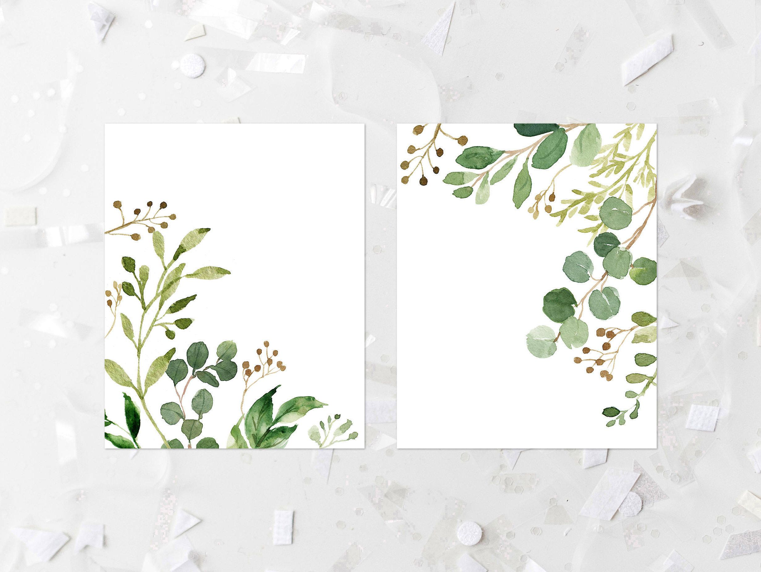 Greenery Printable Set Greenery Corner Prints Leafy Green
