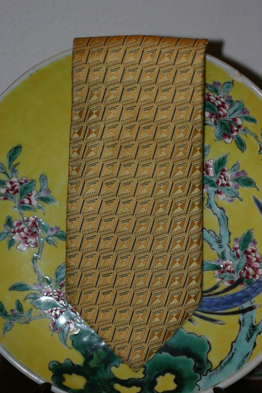 deaeeaca 1990s Ermenegildo Zegna - Burmese Gold Textured Pure Silk ...