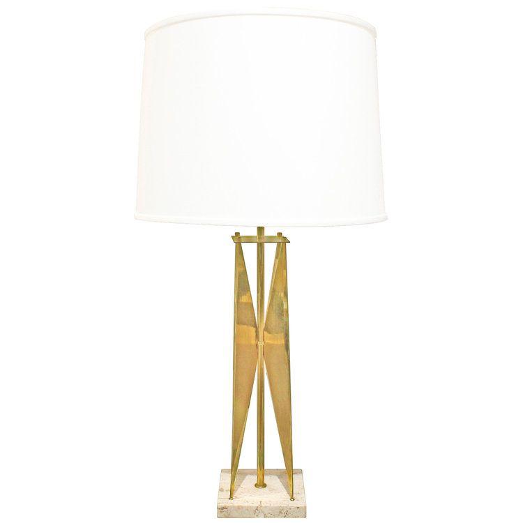 Gerald Thurston Sculptural Brass Table Lamp 1950s Lobel Modern Nyc Lamp Table Lamp Brass Table Lamps