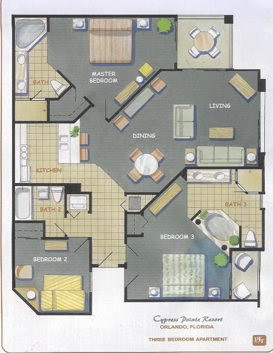 Awesome Disney Orlando Hotel 2 Bedroom Apartment Floor Plans   Google Search