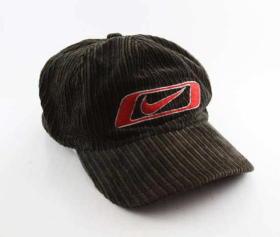 Vintage Nike Black Corduroy Baseball Cap    90 s Black  62540389773