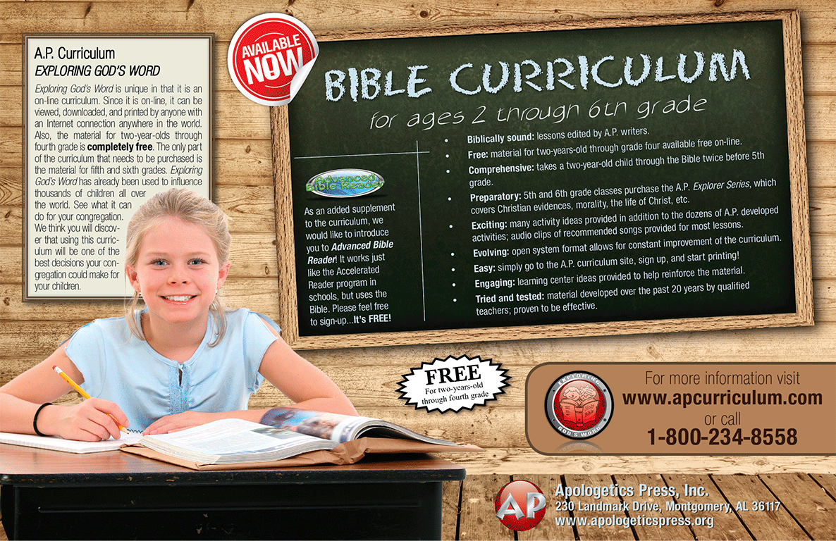 Free Bible Curriculum From Apologetics Press Exploring Gods Word