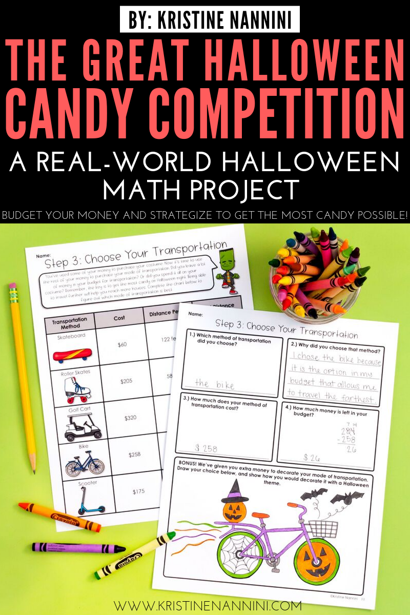 Halloween Math Project #mathintherealworld