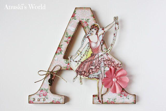 Letra A Decorada Con Bailarina