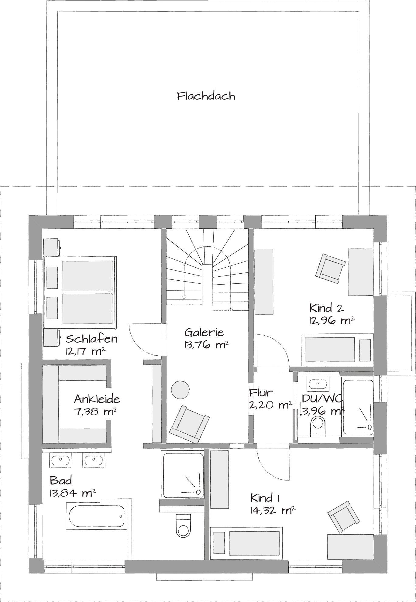 Oberer Stock, Dachterrasse Ergänzen