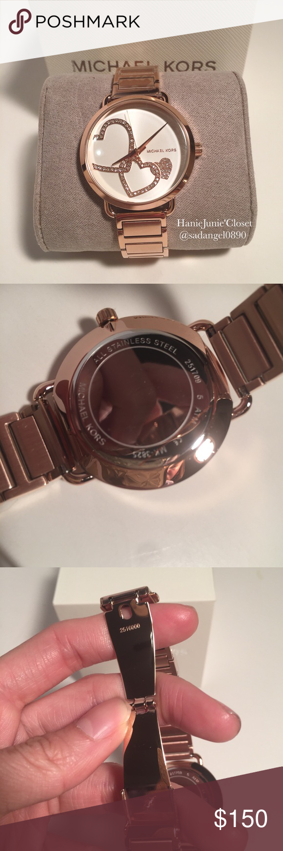 68dec17f199a Michael Kors Portia Rose Gold-Tone Bracelet Watch BRAND NEW AND 100%  AUTHENTIC.