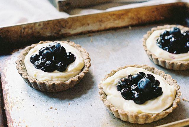 blueberry & cream tarts