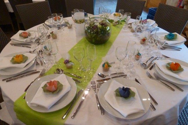 Le mariage d alexandra une ronde des fleurs et des couleurs table ronde - Deco table ronde mariage ...