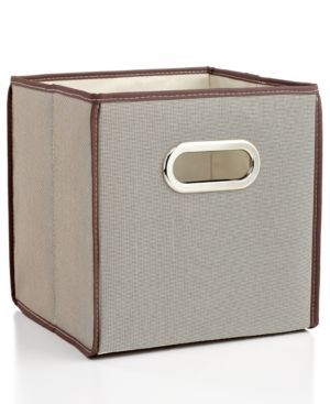 """LINK : https://yroo.com/af/1446520/ruid/21327 Whitmor Collapsible Storage Cube, 10"""" Natural Tweed 