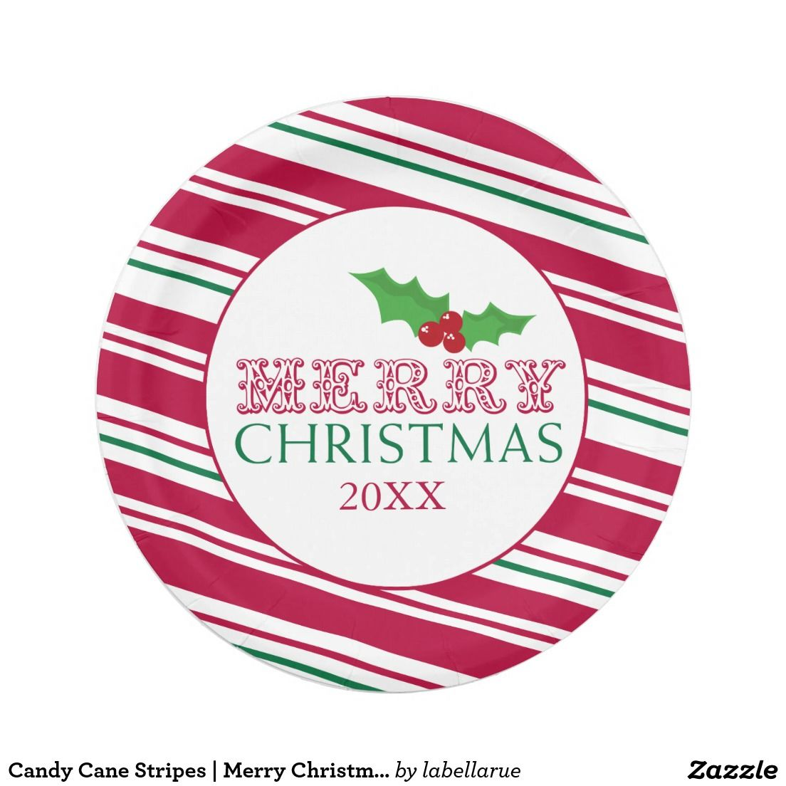 Candy Cane Stripes | Merry Christmas Paper Plate  sc 1 st  Pinterest & Candy Cane Stripes | Merry Christmas Paper Plate | Christmas Paper ...
