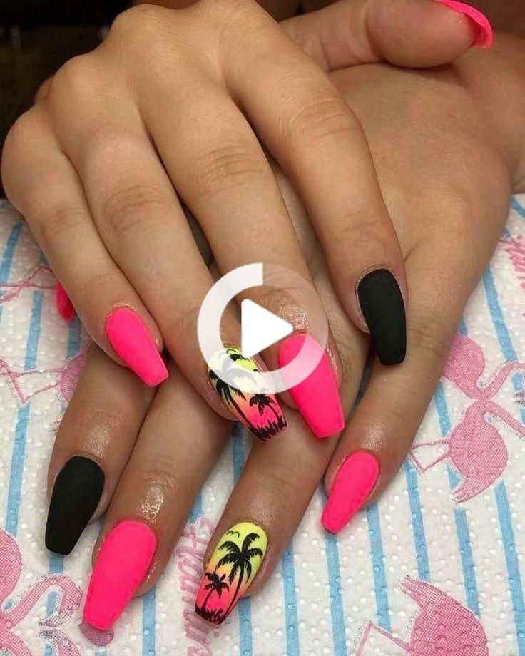 a0fc2587 25 BEST SUMMER STYLISH ACRYLIC NAIL DESIGNS FOR 2019   Coffin