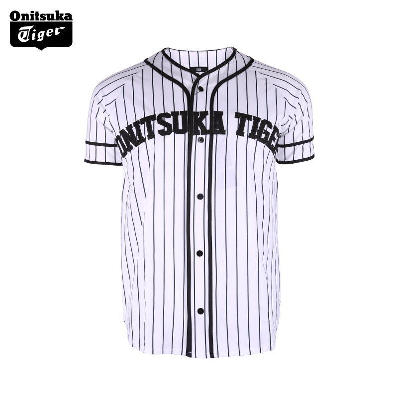Onitsuka Tiger striped T-shirt printing