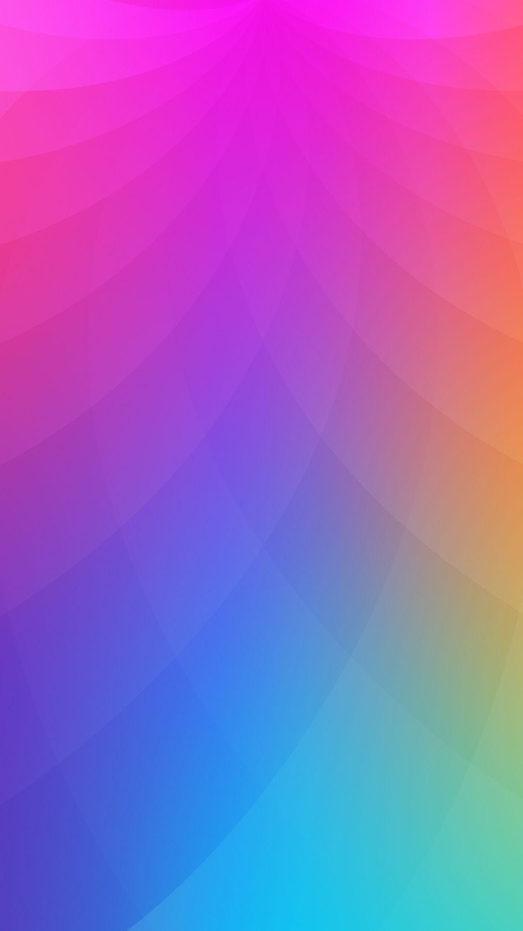 お洒落なカラフル グラデーション Minimalist Wallpaper Colorful