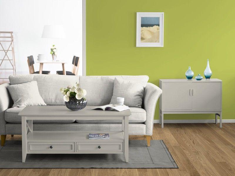 Ein frisches Grün kommt an die Wand #Wandfarbe #Grün #Frühling - wohnzimmer beige grun
