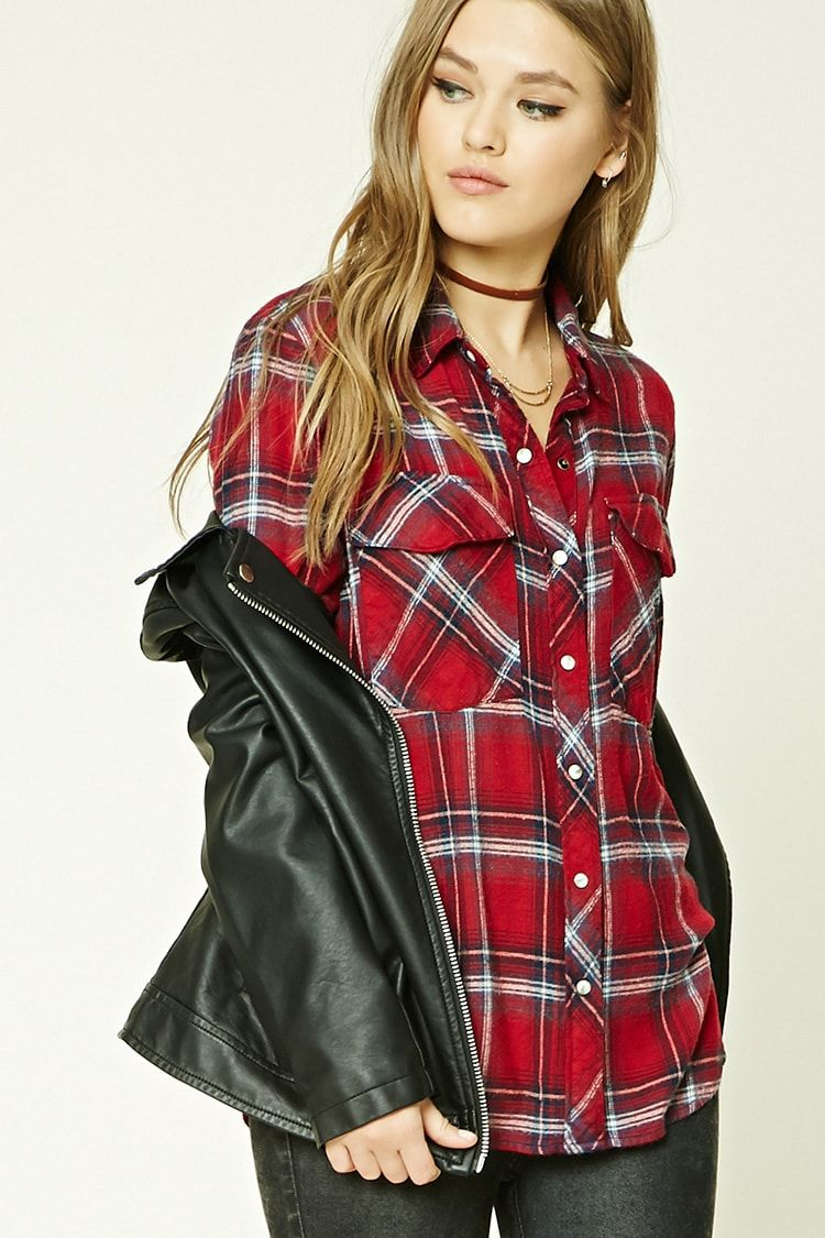 Flannel cardigan womens  A flannel shirt featuring a plaid pattern button front basic