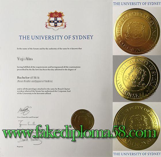 Usyd The University Of Sydney Bachelor Degree Sample Fakediploma58 Degree Certificate University Of Sydney College Diploma