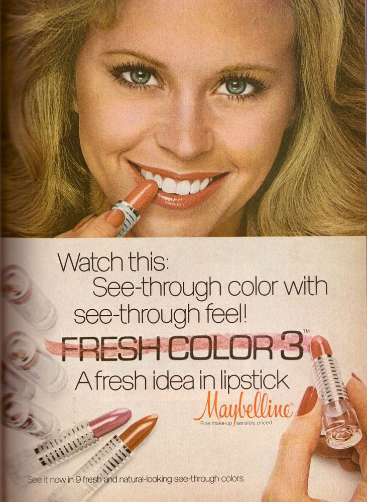 Details about 1978 Maybelline Lipstick Makeup Cosmetics