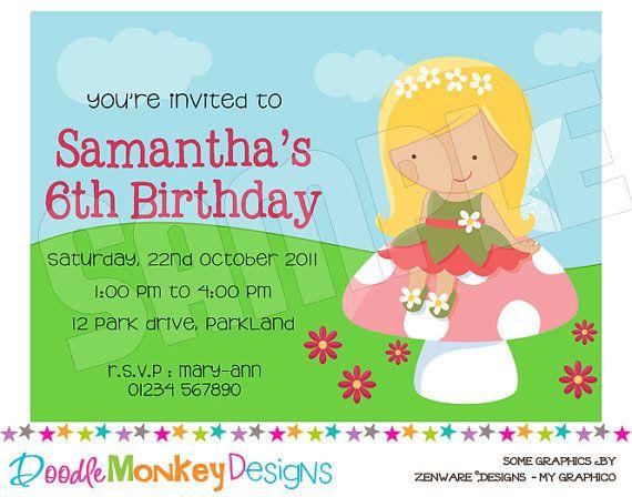 cute fairy invite | Garden Fairy Party | Pinterest | Fairy and Party ...
