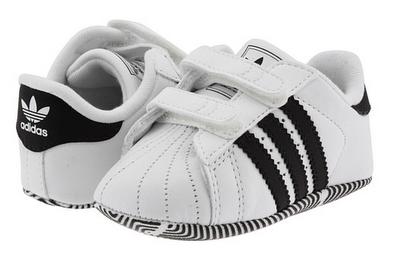 adidas superstar crib baby zwart