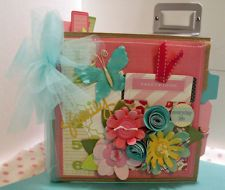 Handmade Mini paper bag scrapbook album~~~~~~~~~~~CUTE!