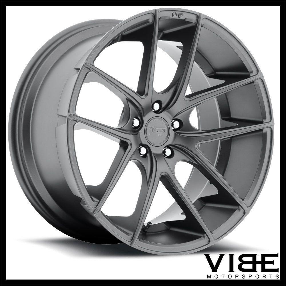 """19"""" Niche Targa Anthracite Concave Wheels Rims Fits Acura"""
