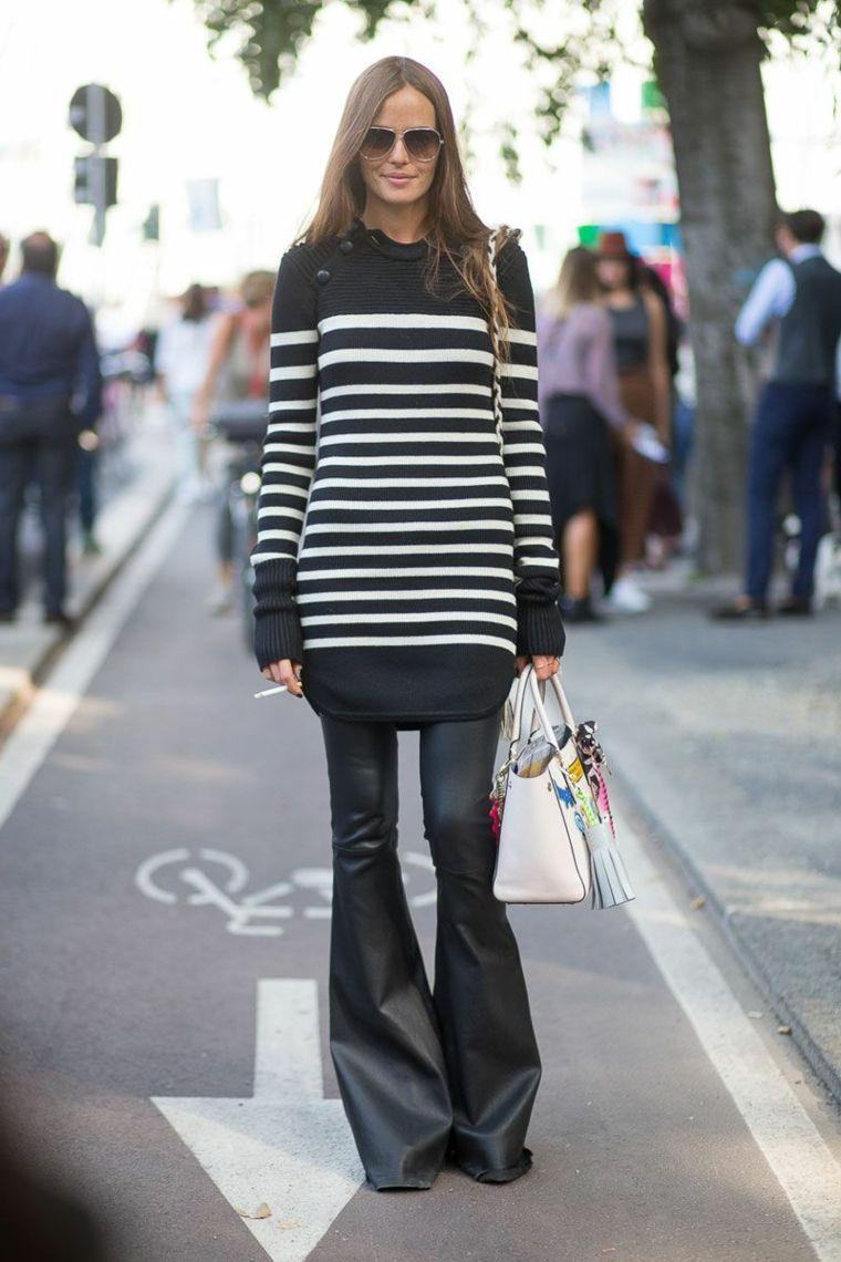 the latest fb441 fe45e Come abbinare i colori, pantalone di pelle nero in ...
