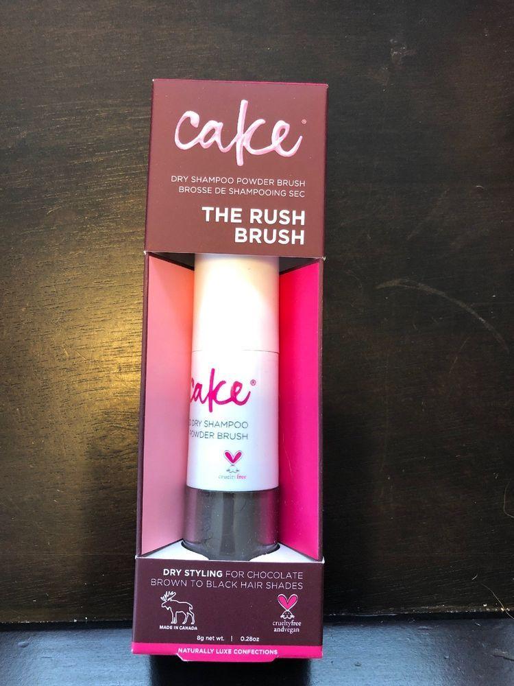 Cake beauty dry shampoo powder rush brush tinted dark
