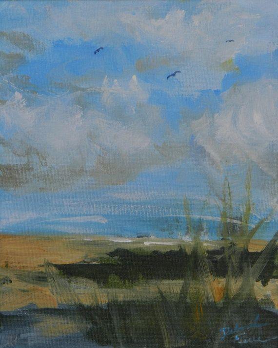"FLYING HIGH. 8x10""Original Acrylic Painting on canvas board. Original available through my Etsy website.  DeborahFerreeArtCafe."
