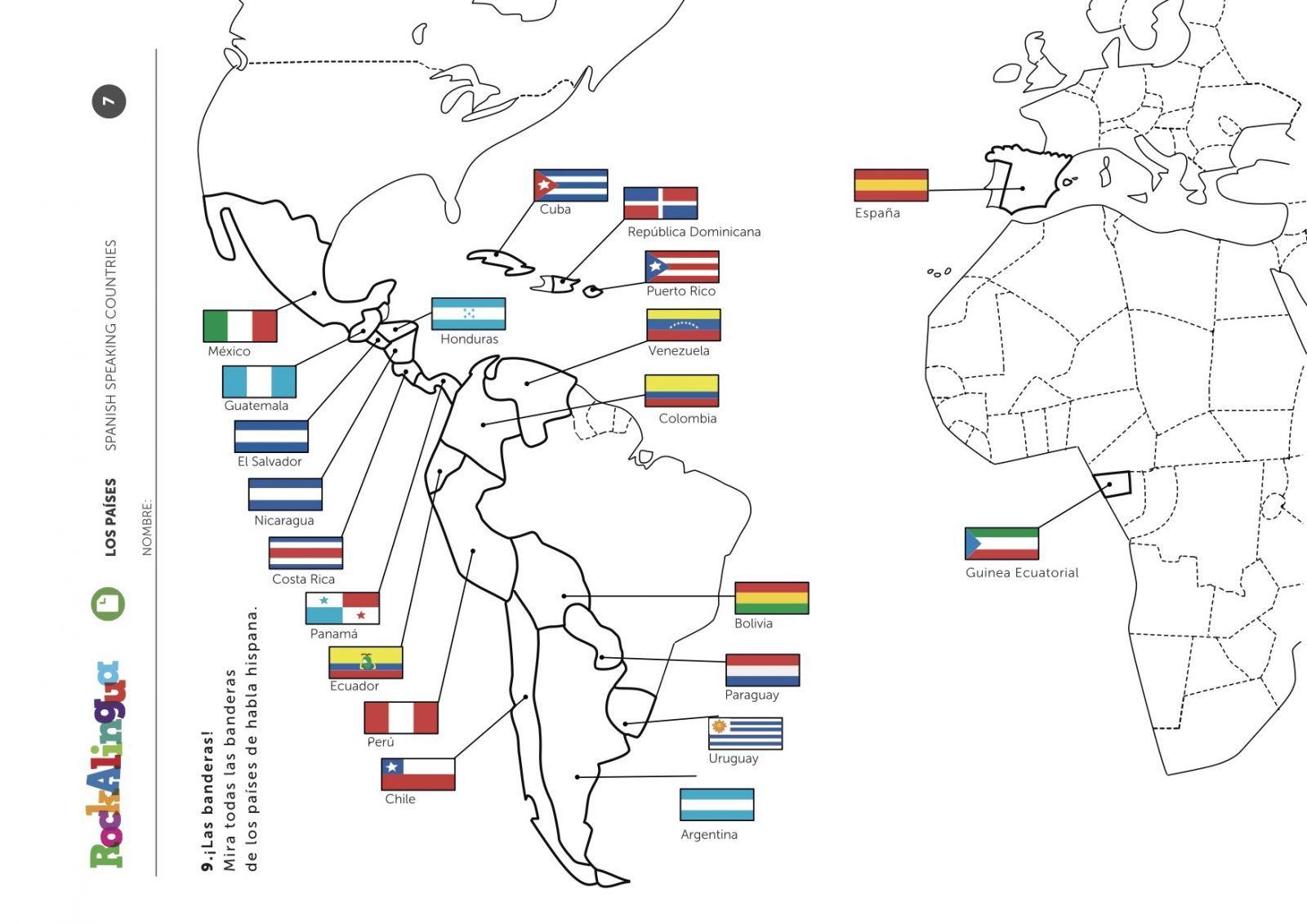 Spanish Speaking Countries Worksheet Rockalingua How To Speak Spanish Spanish Speaking Countries Spanish Speaking Countries Map