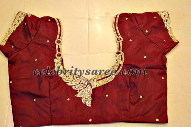 8285b271651a41 Silk Simple Blouse Designs | Clothing | Blouse designs, Simple ...