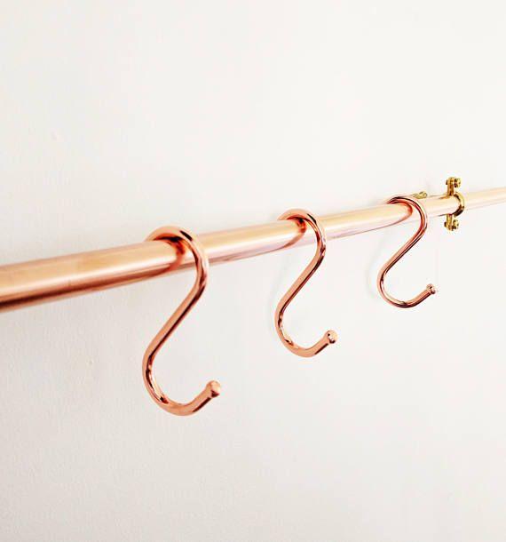 Copper Kitchen Utensil Rail Copper Utensils Utensil Holder Copper Kitchen Utensils