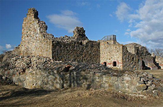 Ruins of Kuusisto castle. Finland