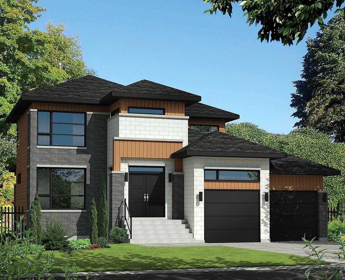 Plan 80840PM Multi Level Modern House Plan Plan