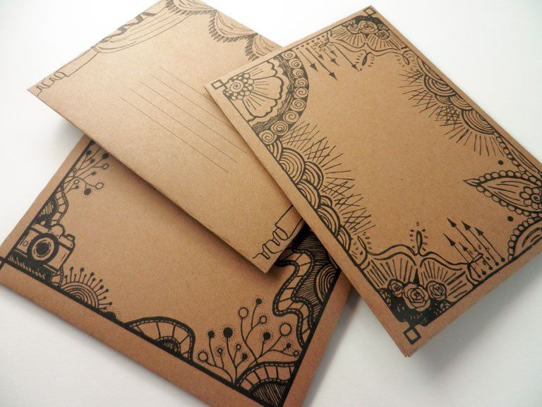 DIY Mail Art Envelope Template | Mail art envelopes and Mail art