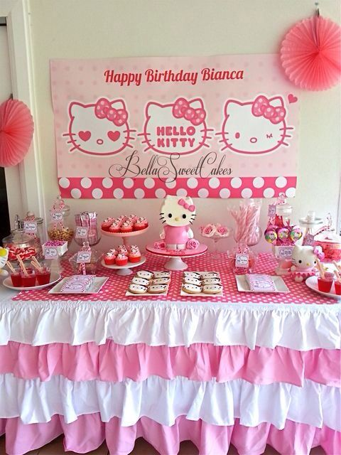 Hello kitty queretaro Kylees 5th Birthday bash Pinterest