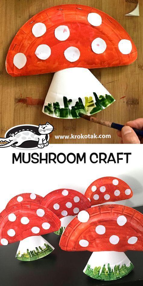 mushroom craft basteln pinterest. Black Bedroom Furniture Sets. Home Design Ideas