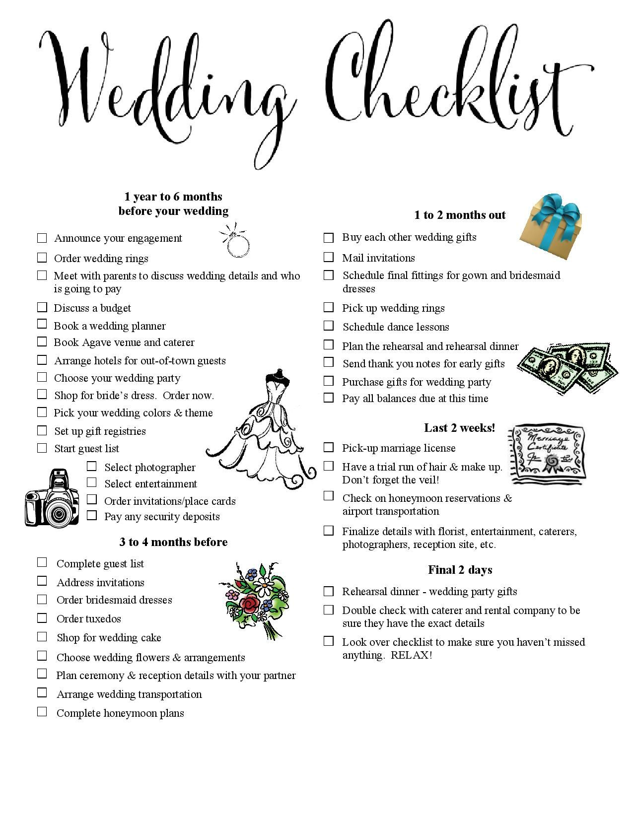 Here Is The One Printable Wedding Checklist That Will Keep You