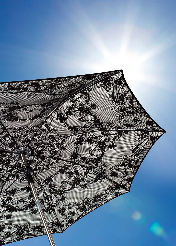 Parasol Design De Grande Taille Solis Signe Sywawa Parasol Parasols Noir Et Blanc