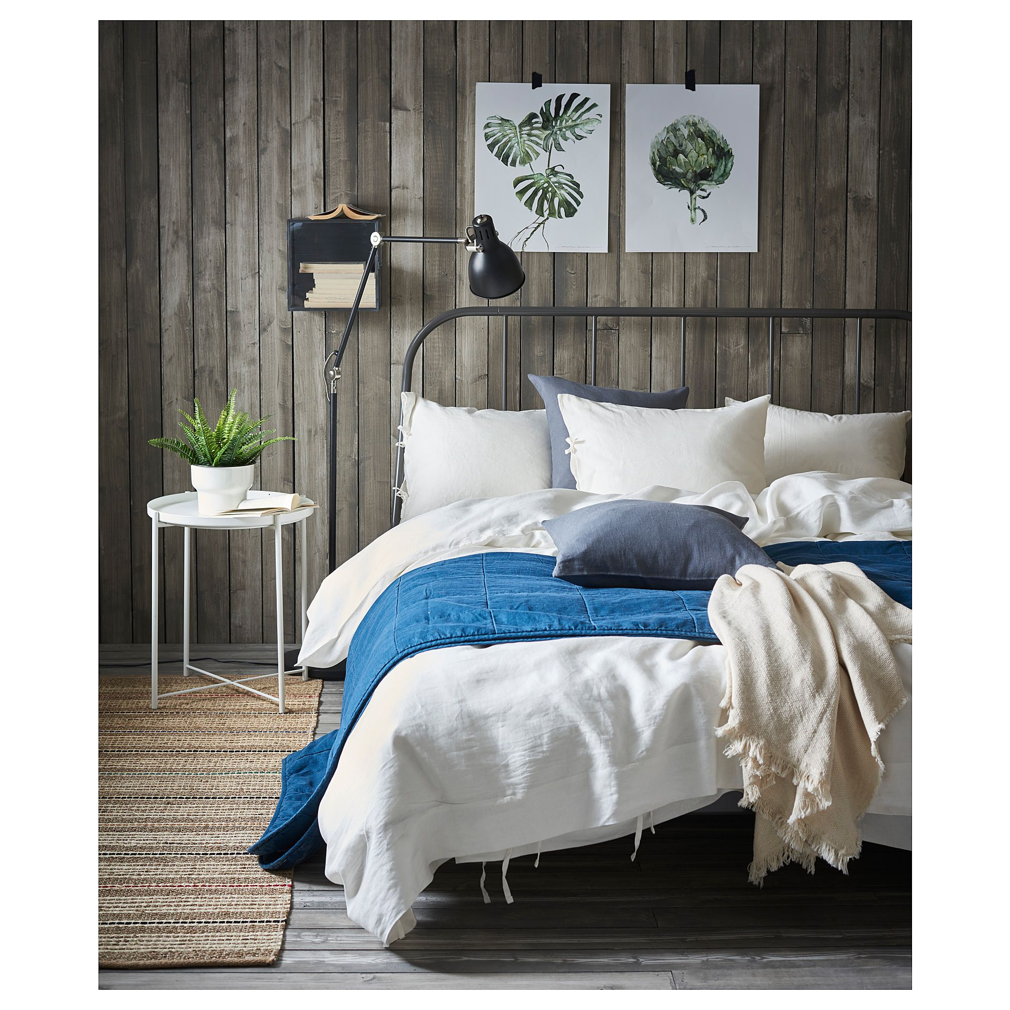 ikea puderviva duvet cover and pillowcase s white. Black Bedroom Furniture Sets. Home Design Ideas