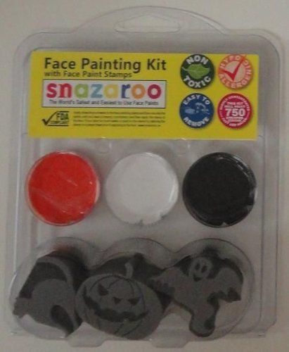 Amazon.com: Snazaroo Pumpkin, Ghost, Cat, Halloween Face Paint Kit with Face Paint Stamps: Toys & Games