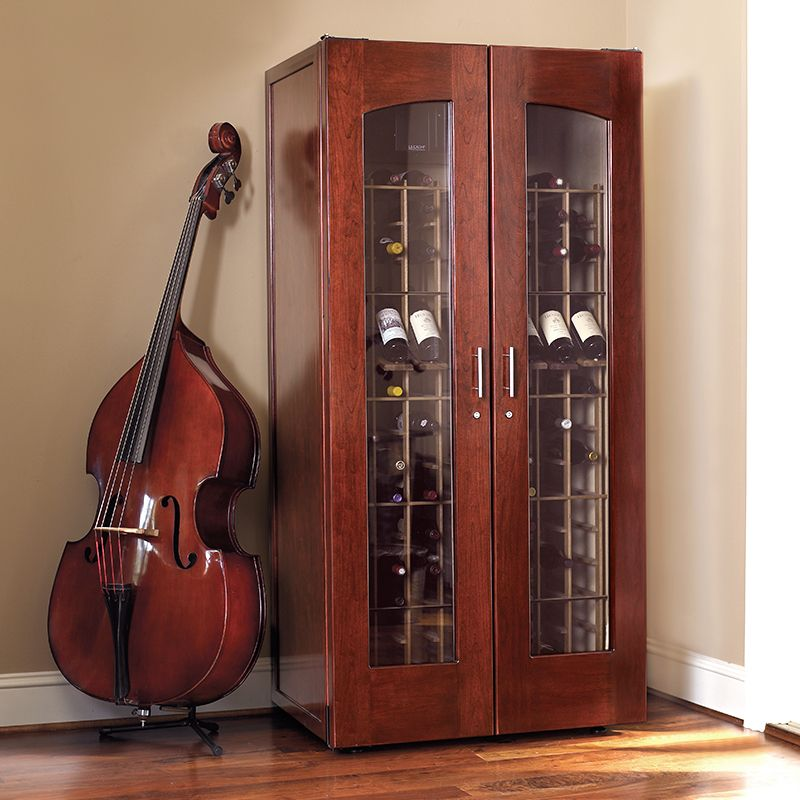 Le Cache Contemporary 2400 Wine Cabinet Classic Cherry 734 With